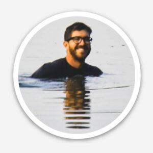 eric oakley in the water sticker