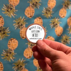 Whale Sacs Gift Coin