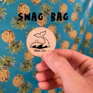 whale sacs swag bag