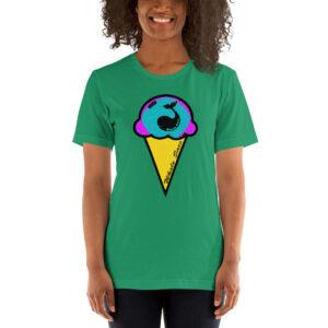 Whale Sac ice cream unisex v-neck tee t-shirt tshirt apparel disc golf discgolf