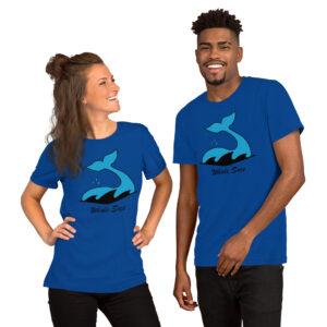 Whale Sacs logo unisex tee t-shirt tshirt apparel disc golf discgolf