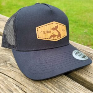 Whale Sacs bamboo hat black curvedbill