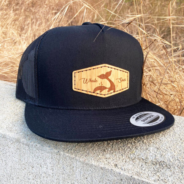 Bamboo Black Whale sacs Hat