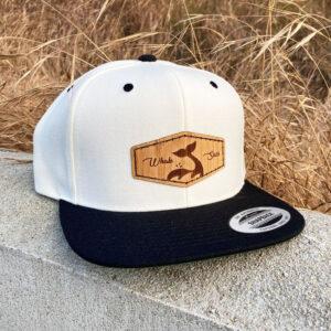 Bamboo White Whale sacs Hat flatbill snapback