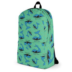 whale sacs green logo backpack discgolf disc golf