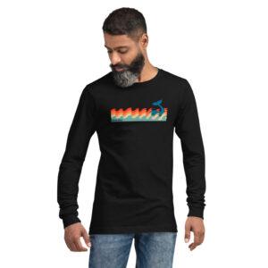 Whale Sac making waves black unisex long sleeve apparel disc golf discgolf