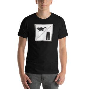 Whale Sac whalepants whale/pants black unisex v-neck tee t-shirt tshirt apparel disc golf discgolf
