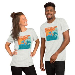Whale Sac whale watching ash unisex v-neck tee t-shirt tshirt apparel disc golf discgolf